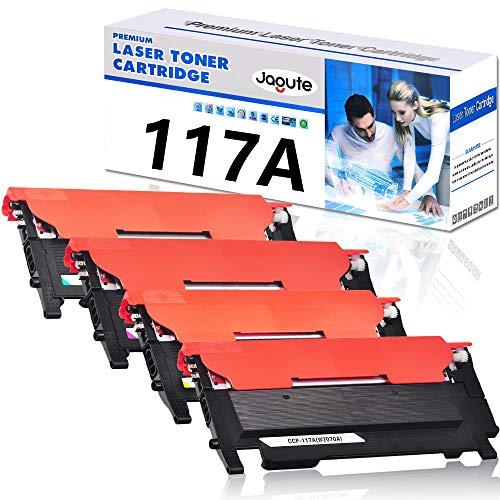 Jagute 117A Cartucce Toner Sostituzione HP Colori Toner 117A W2070A W2071A W2072A W2073A Compatibile con Stampanti HP Toner Laserjet 150a 150w 150nw, MFP 178nw 178nwg 179fnw 179fwg (1 Set CON CHIP)