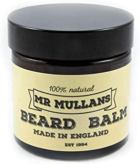 Mr Mullan's Beard Balm, Hand-Crafted In The UK With 100% Natural Ingredients Including Jojoba & Vitamin E To Moisturise The Skin, Controlling Frizz & Shaping The Beard 60ml