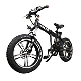 NAKTO Electric Bike 20' 350W Foldable Electric Bicycle for Adult and Children, Fat Tire Ebike with 48V10AH Lithium Battery, Shimano 6 Speed Gears ebike