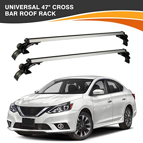 ALAVENTE Universal 47'' Roof Rack Cross Bars with 3 Kinds of Hooks ( Not fit for Kayak )
