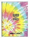 Smemo Good Vibes - Agenda escolar 100 % con texto en italiano «Smemo Good Vibes F.to Pocket Feched 2021/2022 + bolígrafo multicolor LED + llavero con llave de abrilla».