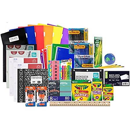 Mega Back to School Supply Kit Bundle - Over 90+ Items for All Grades - Wide Ruled