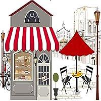 Bosakp 写真の壁紙カスタム手描きのコーヒーハウス風景壁紙リビングルームレストランカフェ壁画子供ルーム壁画 360X250Cm