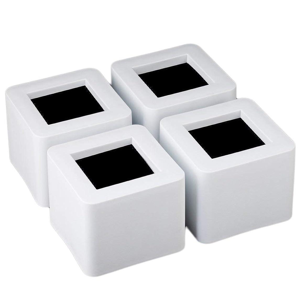 聖なる答えピースUping テーブル? ベッドの高さ調節が簡単にできる ベッド の高さをあげる足 4個セット 高さを上げる 高さ調節脚 こたつ 継足し 継ぎ足 テーブル脚台 高さ調整 暖房器具 (耐荷重1000kg) ホワイト