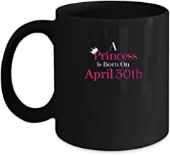 30th Birthday Gifts for Women and Men Under $20, Princess Born April Vintage 1987 11oz Funny Coffee Mugs Tea Cup