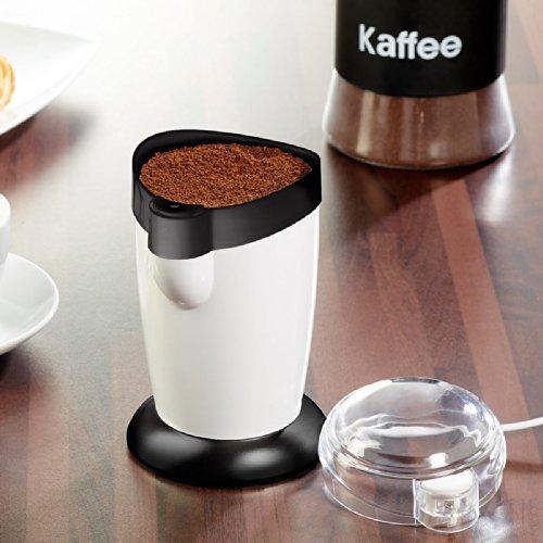 Rosenstein & Söhne Kaffeemühle Schlagwerk: Elektrische Kaffeemühle MH-25 mit Schlagmahlwerk, 120 Watt, 10 Tassen (Schlagmühle)
