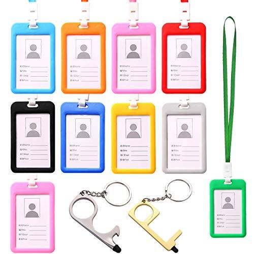 10 Pezzi Carte d' identità Case con Cordino,Porta Badge Tessere Lati,Porta Tesserino d'identità, Porta Tessere per Ufficio, Eventi, Exhibition, Business