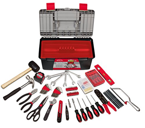 Apollo Tools DT7102P Household Tool Kit with Tool Box, Pink, 170-Piece, Donation Made to Breast...