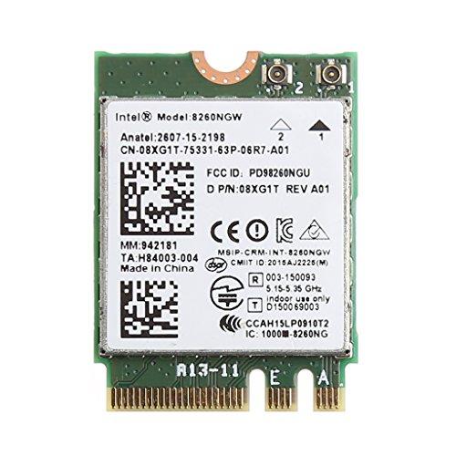 Ontracker 867M - Tarjeta WLAN (banda dual, Bluetooth V4.2 M.2, tarjeta inalámbrica para Int-EL 8260 AC DE-LL 8260NGW)