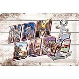 Nostalgic-Art Retro Blechschild Hamburg-Bilder-Buchstaben &