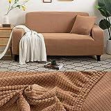 LINL Sofá Cama Jacquard protección sólida y setos Gruesos para Cubrir sofá Viviente para sofá Impreso,Camello,Cubiertas de Asiento 50-60cm