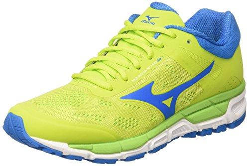 Mizuno Synchro Mx, Zapatillas de Running para Hombre, Multicolor (Limepunch/Blueaster/Jasminegreen), 42 EU