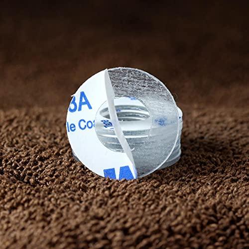 PVC Arandela transparente negra Hoja de junta plástica adhesiva de un solo lado Aislante Arandela de poliamida M2 M2.5 M3 M4 M5 M6 M10 M12-M3x6x1mm (100 piezas), Transparente