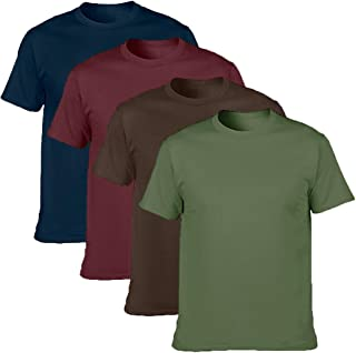 Men's Classic Basic Solid Ultra Soft Cotton Shirt, Navy/Maroon/Chocolate/Military Green, XX-Large