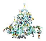 Intervic Set Bloques Ladrillos de Construccion de Juguete Tematica Castillos Palacios de Caricaturas con Personajes de Peliculas Niños Niñas 1529+Piezas