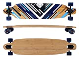 MAXOfit Deluxe Longboard 'Charisma Blue No.02' Drop Through, 106.5 cm, 7 couches, ABEC11 (64302)