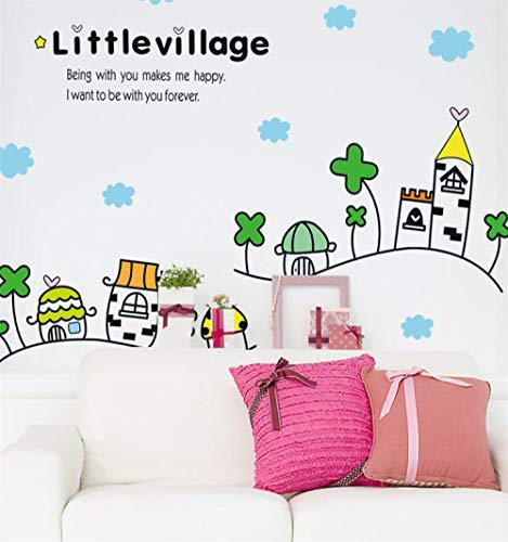 Muursticker, creatief, minimalistisch, architectuur, klavertje vier bladen, plant, doe-het-zelf, zelfklevend, vinyl, jongens, slaapkamer, wandsticker, decoratie, woonkamer