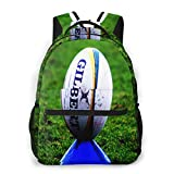 Sac à Dos Femme Homme College Scolaire Sac Sac à Dos Ballon de Rugby sur Coup de Pied, Sac École Fille Garçon Cartable Collège Sac D'école