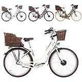 FISCHER E-Bike Retro ER 1804, verschiedene Farben, 28 Zoll, RH 48 cm, Vorderradmotor 25 Nm, 36 V Akku