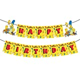 The Simpsons Happy Birthday Banner, Simpsons Family Bunting, The Simpsons Theme Birthday Party Decoration Supplies