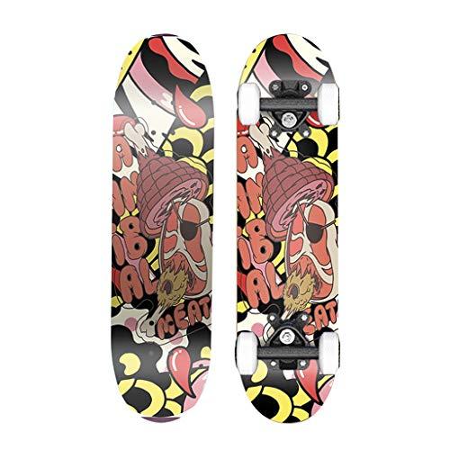 Skateboarden Doppelseitige Aufkleber, Dickere Halterungen, Explosionsgeschützte Lager Doppelter Neigung Für Kinder Und Anfänger Ahorn (Color : A, Size : 79 * 20cm)