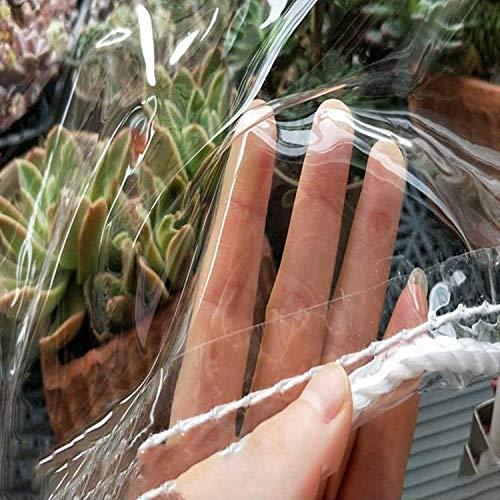 JXQ Lona Transparente Resistente al Agua,Cubierta Transparente de Lona de PVC Suave de Vidrio,Transparencia 99.99% Tela Impermeable de plástico,0.35mm (Size : 1.8x3m/5.9x9.8ft)