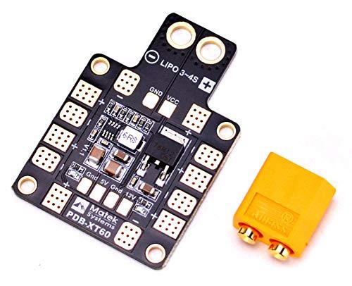 FPVDrone Matek PDB-XT60 Power Distribution Board W/ BEC 5V&12V for FPV Racing Quadcopter