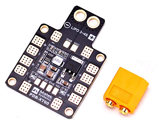 FPVDrone Matek PDB-XT60 Power Distribution Board W/ BEC 5V&12V for FPV Racing Quadcopter