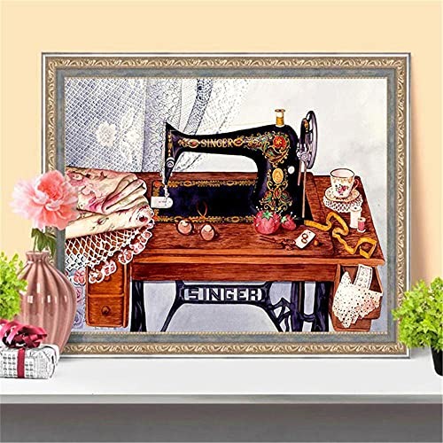 Pintura Diamante 5D Bricolaje Por Número Completo Kit Máquina de coser Rhinestone Cristal Punto de Cruz Mosaico Diamond Painting Artes Craft Cuadros Adulto Niños Regalo Round Drill 40x50cm