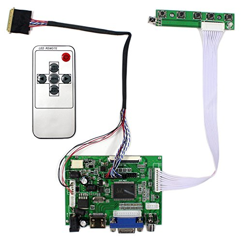 VSDISPLAY HDMI+VGA+2AV LCD Controller Board Work For 14' 15.6'' LP140WH1 BT140XW02 B156XW02 1366x768 40Pin LED Backlight LCD Panel(Not list all the types which are compatible work with)