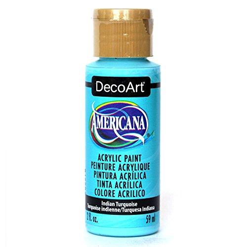 DecoArt Americana Acrylic Paint, 2-Ounce, Indian Turquoise