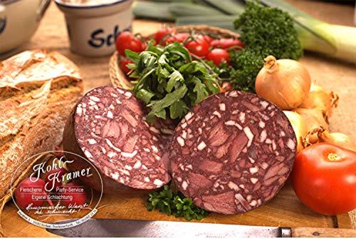 Die Wurstmacher Blutwurst mit Einlage – Wurst aus Schweinefleisch perfekt als Wurstgeschenk für...