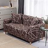 WXQY Funda de sofá elástica Funda de sofá elástica elástica Fractal para Sala de Estar Funda de sofá en Forma de L Funda de sillón, Funda de sofá A21 3 plazas