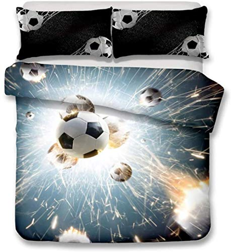 XZHYMJ 3D Digital Printing Football Soccer Sports Bedding Set With 2 Pillowcases Duvet Cover Sets 3 King-Double_7