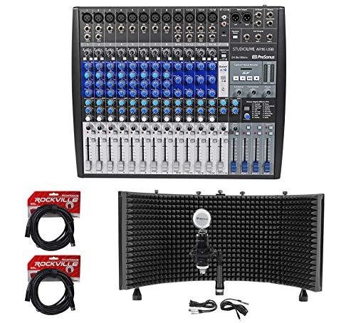 Presonus StudioLive AR16 18-Ch USB Live Sound/Recording Mixer+Mic+Shield+Cables