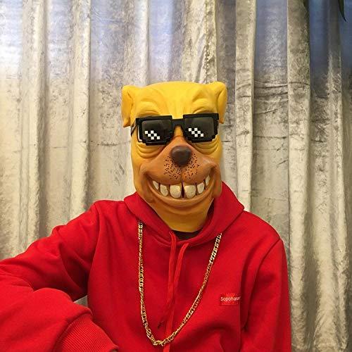 Addobbi Halloween Mascherafacciale Maschera Testa di Cane Cos Testa di Cavallo Asino Orangutan Anatra Cane Maschera Cappuccio Animale Adulto Bar Live @ Nuovo Bulldog
