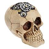 Resina de Halloween Calavera Estatua Ornamento: Esqueleto Cabeza Escultura Calavera Acuario Decoración Escritorio Decorativo Prop para Casa Bar Tienda Fiesta Decoraciones de