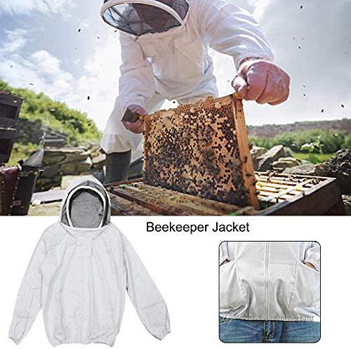 Juonjee Anzug Geeignet for Anfänger und Gewerbe Imker Fechten Schleier Schutz Veil Klage-Kleid-Jacke Smock Bee Hat Ausrüstung Zu