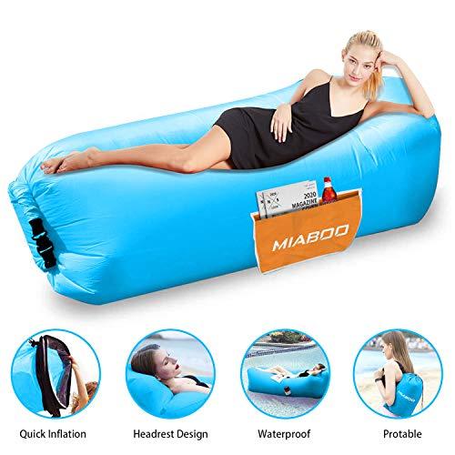MIABOO Aufblasbare Sofa,Wasserdichtes Aufblasbares Air Lounger mit Tragebeutel, zum Schlafen im Freien, im Innenbereich, zum Zurücklehnen und Entspannen Aufblasbarer Sitzsack für Camping|den Strand