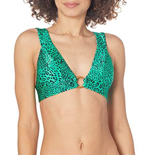 Seafolly Damen Banded Longline Triangle Bikini Top Swimsuit Bikinioberteil, Wild Ones Jade, 38