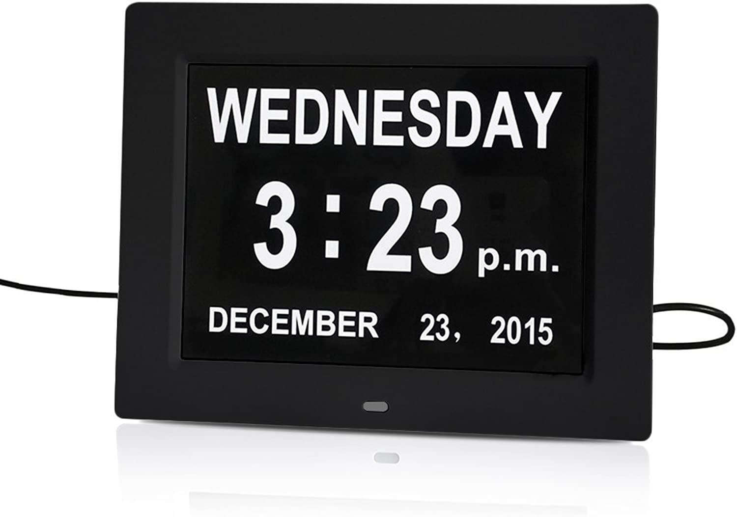 AMZTOLIFE Digital Calendar Day Clock Memory Loss Digital Clock with Extra Large Non-Abbreviated Day and Month for Mother from Son & Daughter on Mother Day