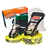 Driftsun Sports Slack-Line Complete Kit with Training Line and Tree Guard Protectors, Easy to Set-Up and Includes Carry Bag, 50-Foot