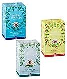 Tienda de té inglés Colección de té blanco: 1 x Arándano y saúco, 1 x Blanco puro, 1 x Aroma tropical - 3 x 20 Bolsitas de té (120 gramos)