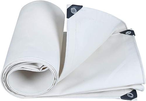 Bache imperméable résistante blanche, toile résistante à la pluie épaississent la toile résistante à l'usure d'isolation, pour la couverture extérieure et le camping (taille   3x5 m)