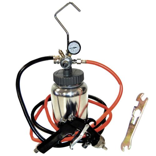 TCP Global 2 Quart Paint Pressure Pot with Spray Gun and 5 Foot Air and Fluid Hose Assembly