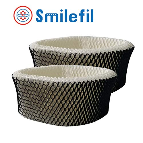 S SMILEFIL 2 Pack Premium Humidifier Replacement Wick Filter Compatible with Holmes Type A, HWF62, HWF62CS, HWF62D & Sunbeam Humidifier Cool Mist Models SCM1100, SCM1701, SCM1762, SCM2409