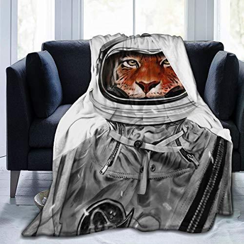 """LiYang Astro Tiger La Coperta in Microfibra è Morbida, Calda, Leggera e Decorativa.Adatto per Coperte Calde in Soggiorno e Camera da Letto.Diverse Dimensioni Disponibili 60""""X50"""
