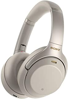 Sony WH1000XM3 Noise Cancelling Headphones : Wireless Bluetooth Over the Ear Headset – Silver