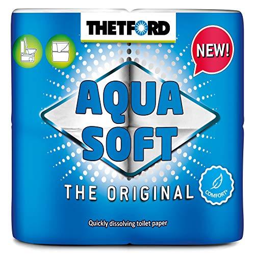 Thetford Aqua Soft Toilettenpapier, mehrfarbig, 4 Rollen/Btl