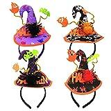 4PCS Diadema de Bruja de Halloween,...
